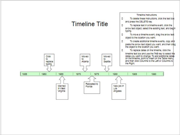 free timeline templates