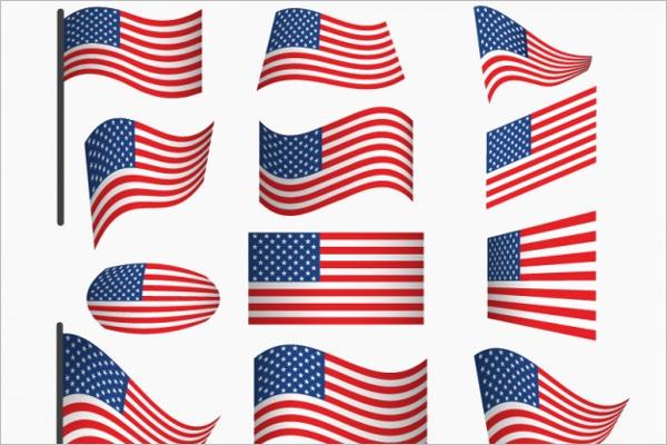 Free USA Flag Vector Design