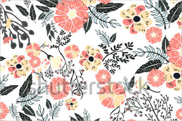 Free Vector Floral Pattern Design