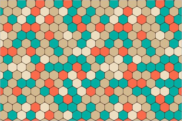 Free Vector Hexagonal Background