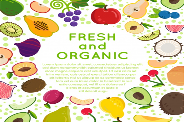 Free Vegetable Fabric Design