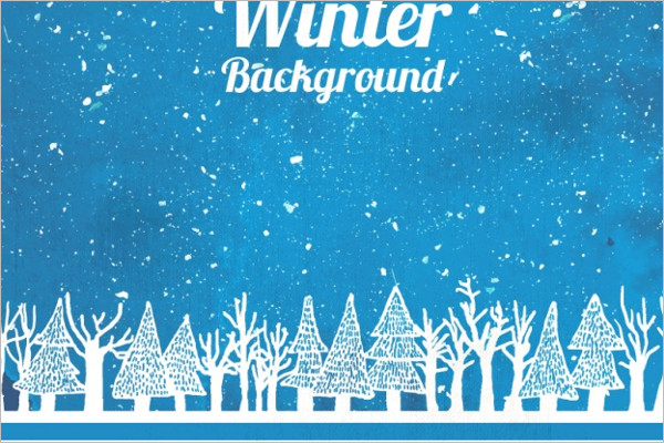 Free Winter Background Template