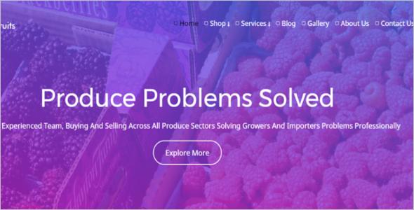 Fresh Fruits Sale WordPress Theme