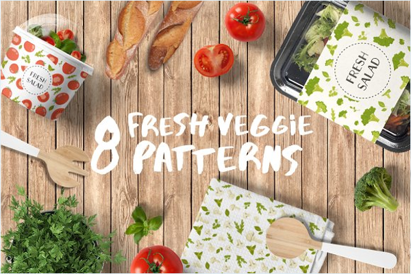 Fresh Veggie Pattern Design