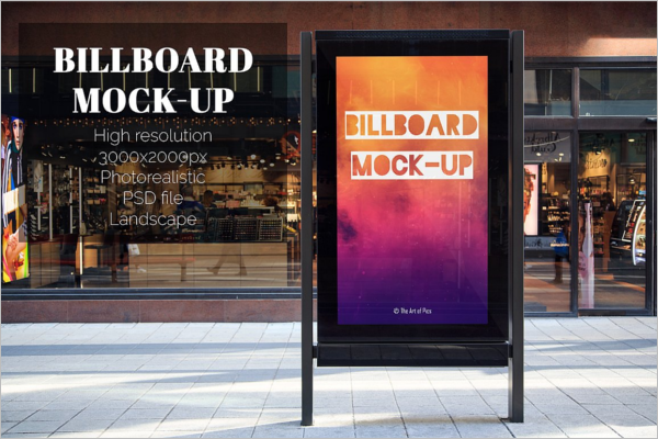Full Screen Advertising Mockup Template