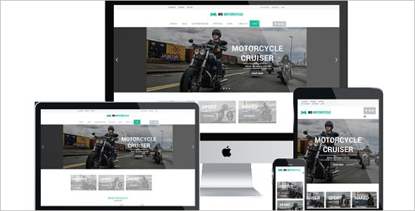 Fully Responsive Bike Shop Website Theme