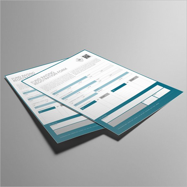 Fund Raising Registration Form Template