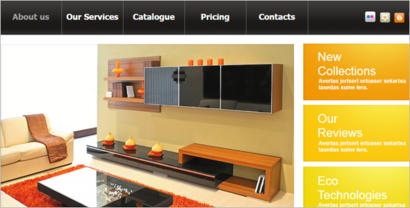 Furniture HTML Website Template