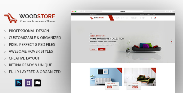 Furniture & Interior Design Ecommerce Template