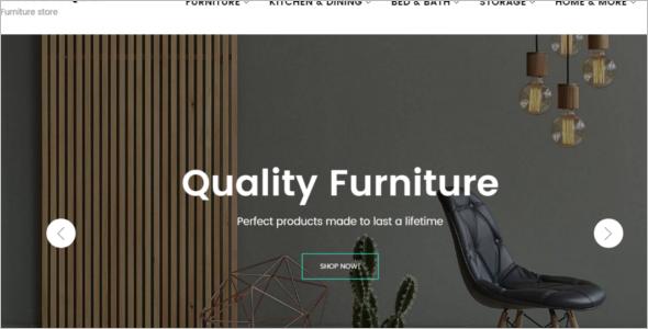 Furniture Manufacture Ecommerce Theme