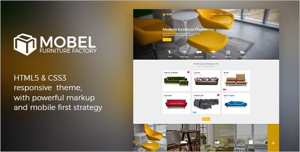 Furniture Models HTML Template