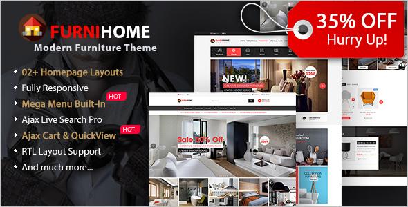 30 Best Furniture Wordpress Themes Free Premium Templates Creative Template