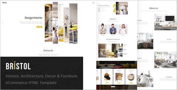 Furniture eCommerce HTML Theme