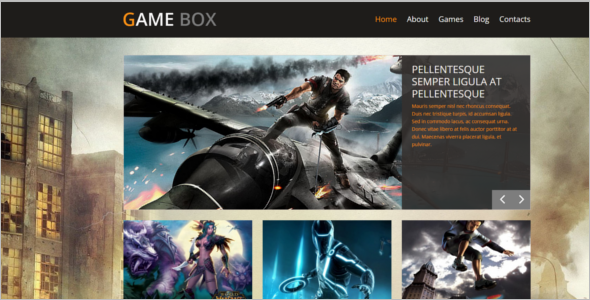 Game Box WordPress Theme