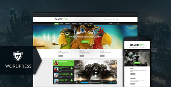 Games Zone WordPress Theme