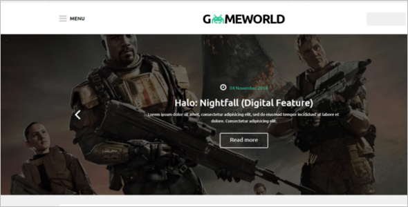 Game World WordPress Theme