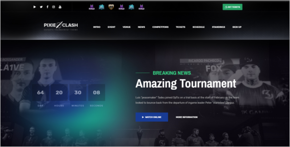 Gaming Theme For Tournaments