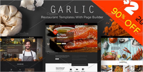 Garlic Restaurant Website Theme