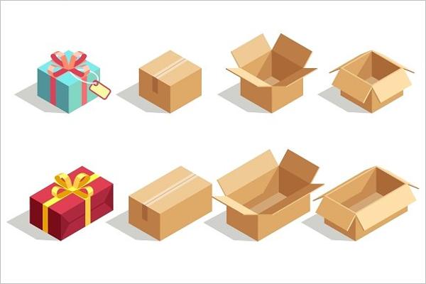 Gift Boxes Isometric Background