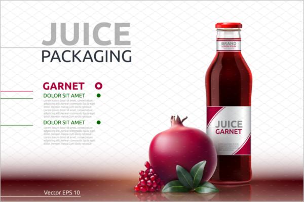 Glass Juice Bottle Mockup Design