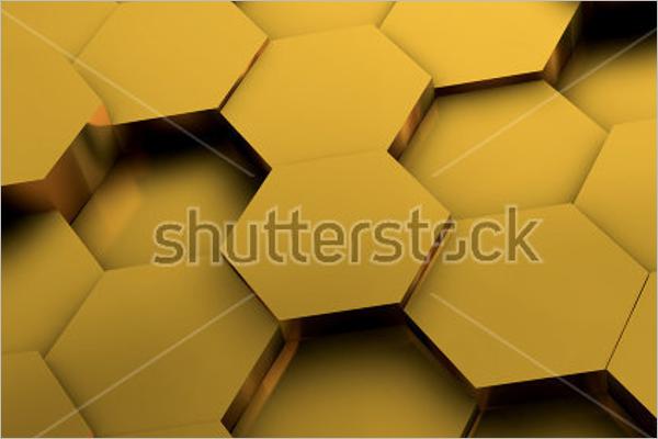Graphic Hexagonal Background