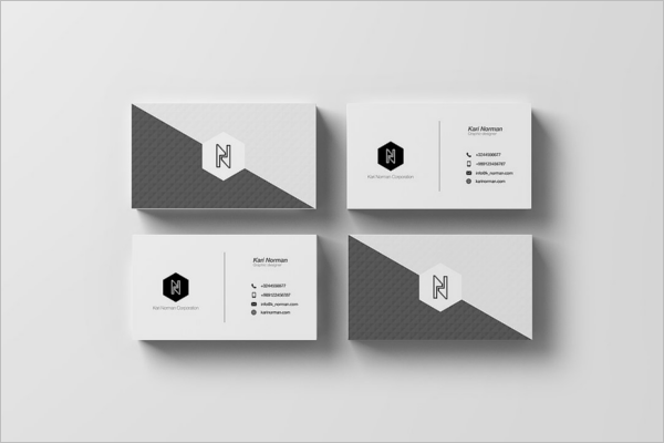 Graphical Mockup Business Card Design