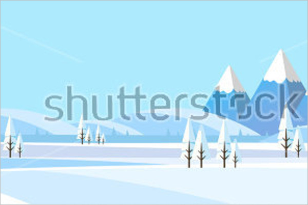 Graphical Winter Background Design