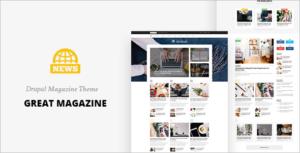 Great Magazine News Drupal 8 Theme
