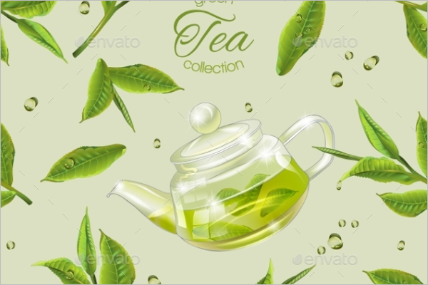 Green Tea Leaves Pattern