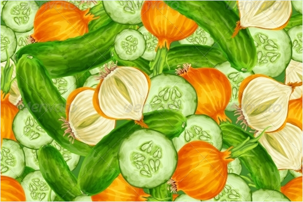 Green Vegetable Pattern Design
