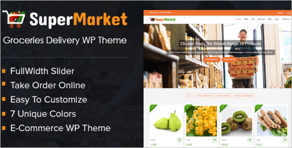 Grocery Product WordPress Theme