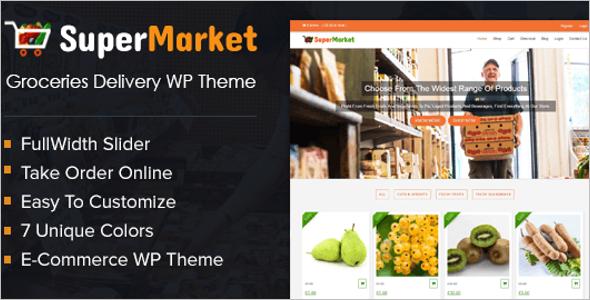 Grocery Product WordPress Theme
