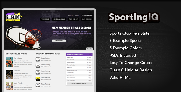 HTML Sports Template
