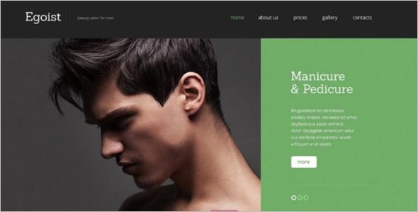 Hair CareWebsite Template