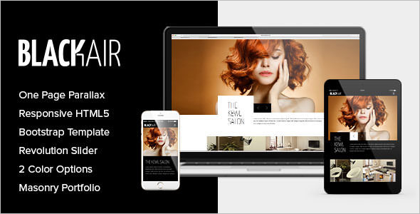 Hair Color Salon Website Template