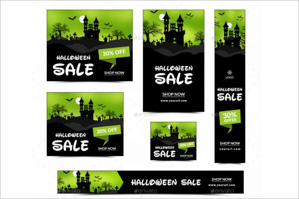 Halloween Animated Banner Idea