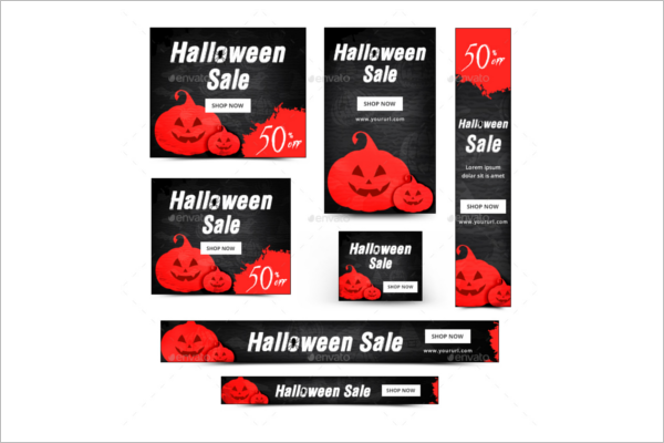 Halloween Banner Ads Idea