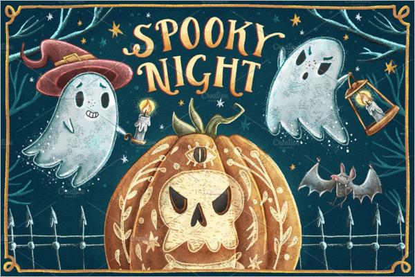 Halloween Banner Clipart Idea