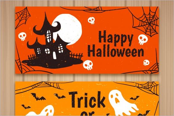 Halloween Banner House Idea
