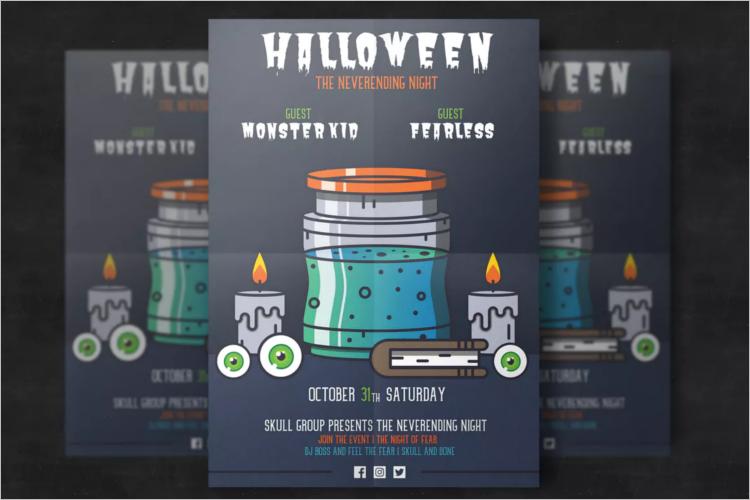 Halloween Poster Design Idea