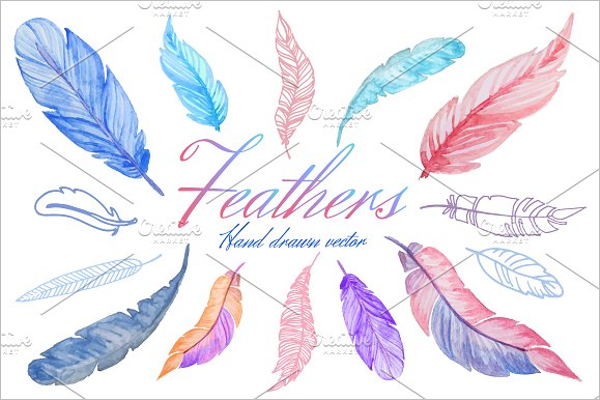 Hand Drawn Feather Patterns