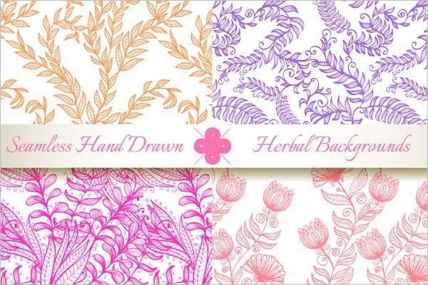 Hand Drawn Floral Pattern Design