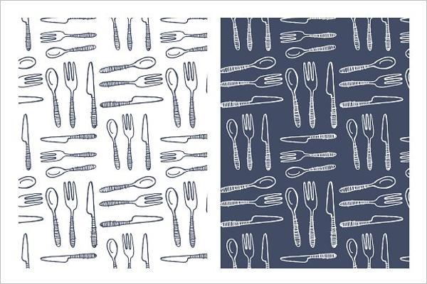 Hand Drawn Seamless Kitchen Pattern