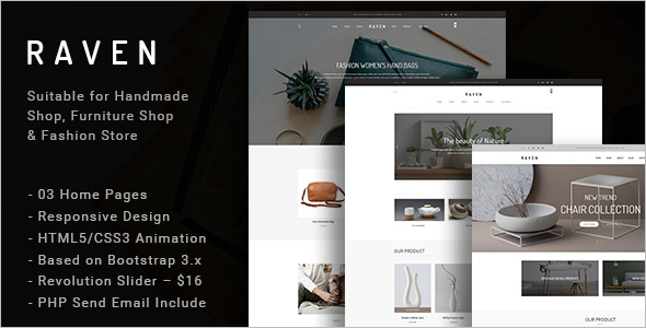 Handmade Furniture Ecommerce Template