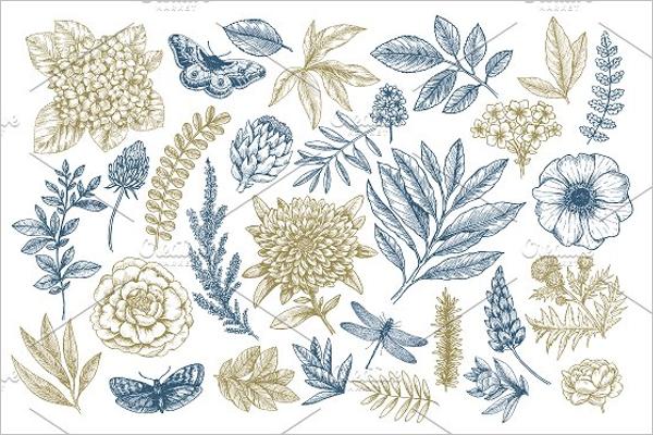 Hand Sketched Floral Pattern Design