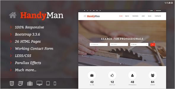 Handyman Job Board Template