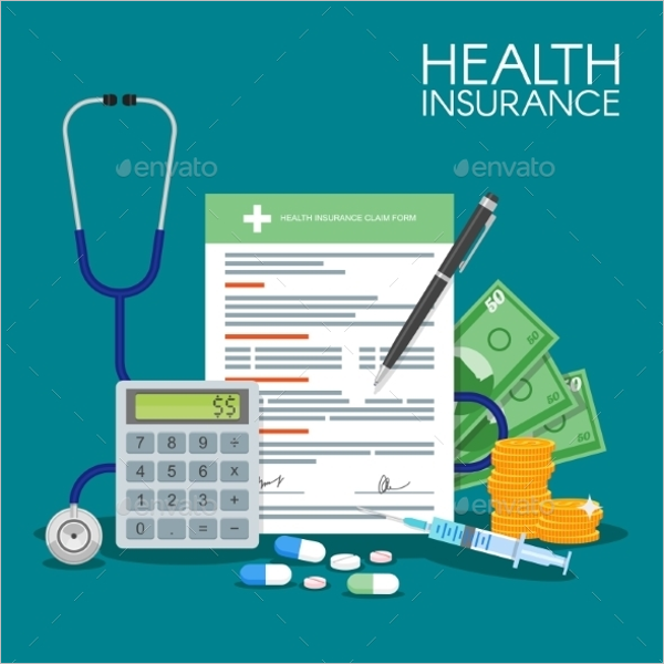 Health Insurance Form Illustration