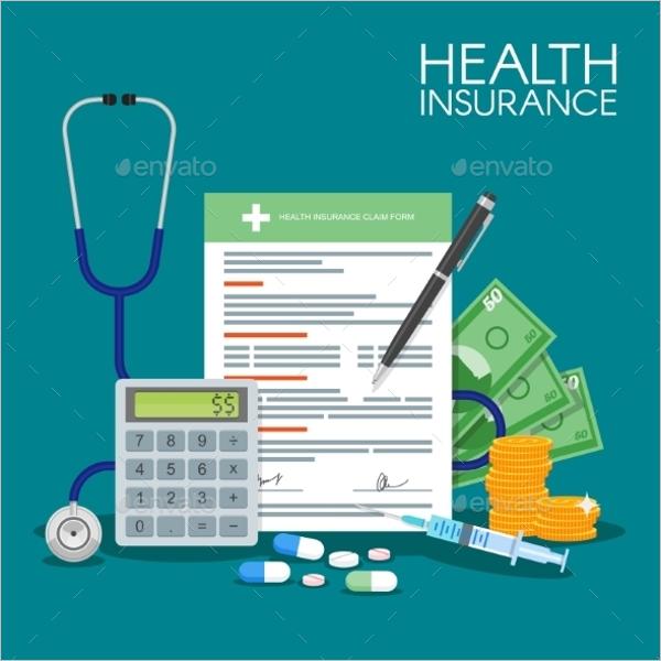 Health Insurance Form Illustration