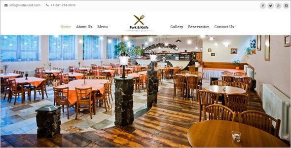 High Quality Restaurant HTML Template