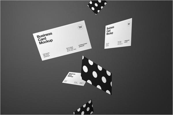High Resolution Business Card Mockup